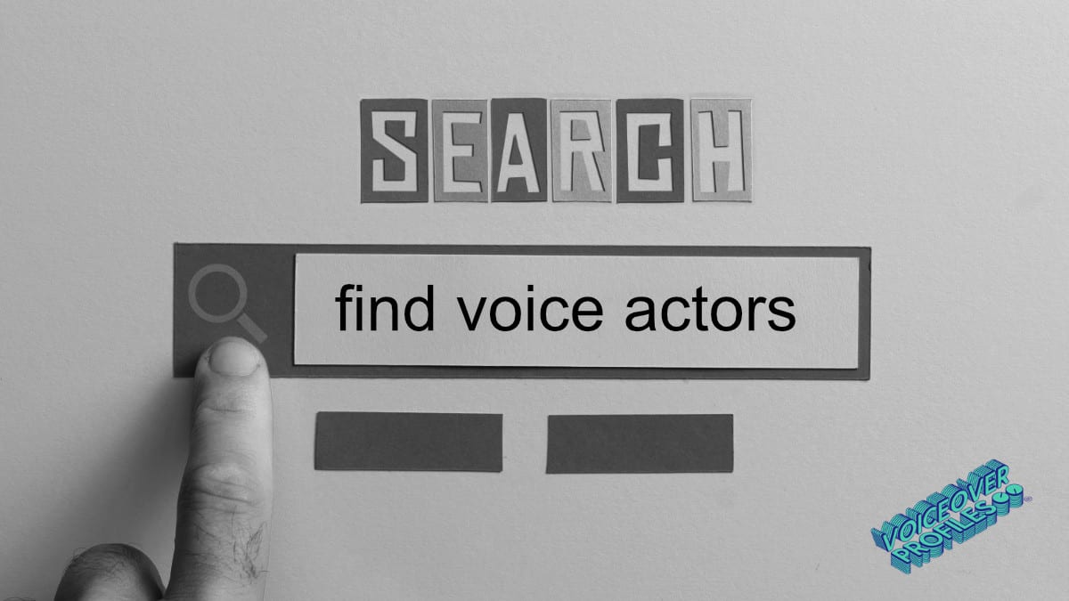 how to find voice actors